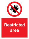 <p>Restricted area</p> Text: