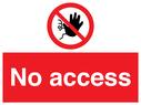 no access symbol - sign Text: No access