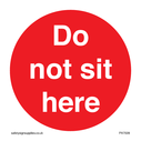 <p>Do not sit here</p> Text: