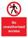 <p>No unauthorised access</p> Text: