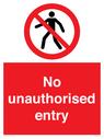 <p>No unauthorised entry</p> Text: