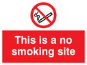 no smoking symbol Text: this is a no smoking site