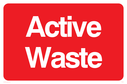 Active waste, text only Text: Active waste