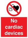 <p>No cardiac devices</p> Text:
