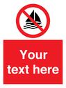 <p>No sailing</p> Text: