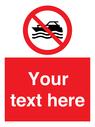 <p>No mechanically powered craft</p> Text: