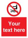 <p>No towed water craft</p> Text: