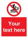 <p>No surf craft</p> Text: