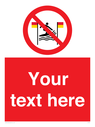 <p>Custom No surfing between the red and yellow flags</p> Text: