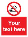 <p>Custom No kite surfing</p> Text: