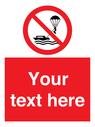 <p>Custom No parasailing</p> Text: