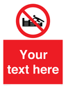<p>Custom No climbing on groynes</p> Text: