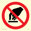 <p>No touching symbol</p> Text: No touching symbol