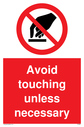 avoid-touching-unless-necessary-sign-~