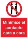 minimice-el-contacto-cara-a-cara-sign-~