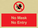 <p>No Mask No Entry</p> Text: