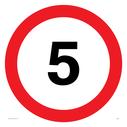 5mph symbol Text: 5 (5MPH / 5KPH / 5 MPH / 5 KPH)