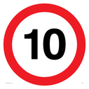 10mph symbol Text: 10 (10MPH / 10KPH)