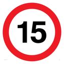 15 mph symbol Text: 15 (15MPH / 15KPH)