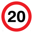 20mph symbol Text: 20 (20MPH / 20KPH)