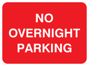 text only Text: no overnight parking