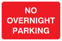 <p>text only</p> Text: no overnight parking