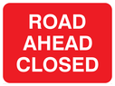 text only Text: road ahead closed