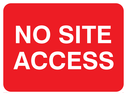 <p>No site access text only</p> Text: no site access