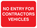 text only Text: no entry for contractors vehicles