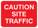 text only Text: caution site traffic