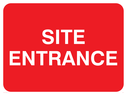 <p>Site entrance text only</p> Text: site entrance