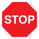 <p>Stop floor graphic</p> Text: