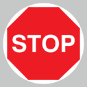 <p>Stop floor graphics</p> Text: Stop floor graphics