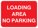 text only Text: loading area no parking