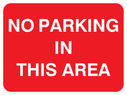 text only Text: no parking in this area