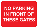 text only Text: no parking in front of these gates