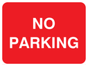 <p>No Parking text only</p> Text: NO PARKING