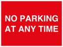 <p>NO PARKING AT ANY TIME</p> Text: