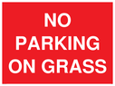 <p>NO PARKING ON GRASS</p> Text: