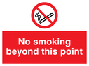 no smoking symbol Text: no smoking beyond this point