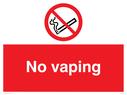 <p>No vaping</p> Text: No vaping no e-cigarettes