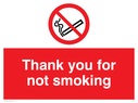 no smoking symbol Text: thank you for not smoking