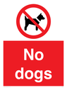 no dogs symbol Text: no dogs