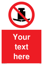 Custom No Heavy Loads Sign. Add your own custom text. Normal delivery times apply. Red No Heavy Loads Symbol. This symbol and sign layout complies with new EN7010 legislation that governs safety signs. Text: Your text here - just add to your order and fill in the 'special instructions' box at the basket to confirm your required text.