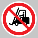 <p>No fork lift trucks floor graphics</p> Text: No fork lift trucks floor graphics