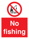 <p>No fishing</p> Text: