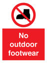 <p>No outdoor footwear</p> Text: