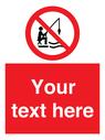 <p>Custom No Fishing</p> Text: