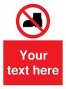<p>Custom No outdoor footwear</p> Text: