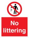 <p>No littering</p> Text: